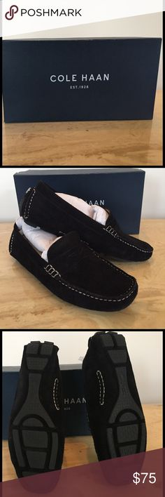 Cole Haan Black Suede Trillby Driver Loafer Cole Haan black suede loafer. So comfy!!! All merchandise sold as-is. Cole Haan Shoes Flats & Loafers