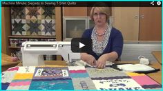 Sports Quilts + Secrets to Sewing T-Shirt Quilts! @ sew-whats-new.com