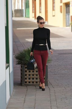 Can never go wrong with a classic turtle neck style