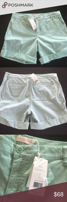 "Tory Burch shorts Tory Burch faded seaside shorts, size 30.  Button cuff, 5 1/2"" inseam with optional 8 1/2"" total if worn uncuffed.  NWT Tory Burch Shorts"