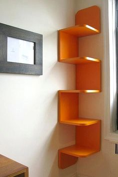The Corner Tree shelf for extra storage. #17college
