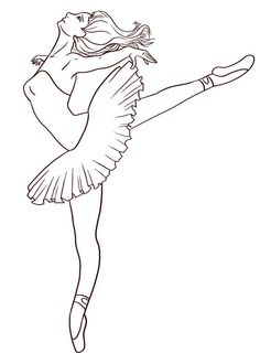 ballerina 5 | ballett zeichnung, ausmalbilder, ausmalen