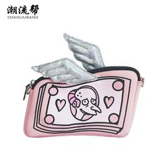 Cheap shoulder bags, Buy Quality pink bag directly from China crossbody shoulder bag Suppliers: New Cartoon Women Messenger Bag Hologram Pink Bag Wings Clutch Purse Leather Mini Handbags Chain Crossbody Shoulder Bag Mini Handbags, Small Handbags, Mini Crossbody Bag, Crossbody Shoulder Bag, Leather Purses, Leather Handbags, Mode Rose, Chain Shoulder Bag, Shoulder Bags