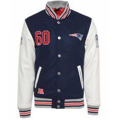 Majestic NFL New England Patriots Varsity Jacket £109.99  I WANT THIS SO BAD!!
