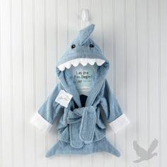 """Let the Fin Begin"" Shark Terry Robe"