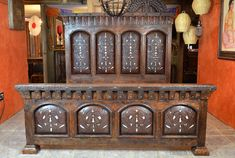Tooled Leather Bed, Chapital Bed - Demejico