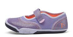 Girls #GoPLAE Mary Jane sneaker. Interchangeable tabs permit different styles in same shoe.   parakeet feet