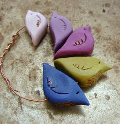 Humblebeads Blog: For the Love of Color - Polymer Clay Bird Beads