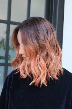 """L.A.'s Raddest Hair Colorist Spills The Looks You'll Want In 2017 #refinery29 http://www.refinery29.com/cherin-choi-la-hair-color-transformations#slide-8 What To Ask For: Copper or bronze color over light blond highlights with a natural root. This is a brand-new color out this month — Bronze from the Joico Metallics line — so for a similar result, here's what Choi says to do: """"It goes best over on level 9 highlights,"""" she says. """"It will last even longer if the hair is only a level 8, but ..."""