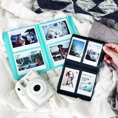 I either want the white or strawberry color camera Mini Instax Photo Album - Urban Outfitters Instax Photo Album, Polaroid Instax, Fujifilm Instax Mini 8, Fuji Instax, Instax 8, Instax Wide, Polaroid Camera, Instax Mini Ideas, Polaroid Pictures