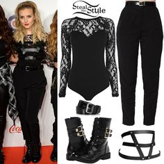 Steal her style(Perrie Edwards) Little Mix Outfits, Little Mix Style, Pin Up Outfits, Cute Outfits, Fashion Outfits, Perrie Edwards Style, Celebrity Outfits, Celebrity Clothing, Lace Bodysuit
