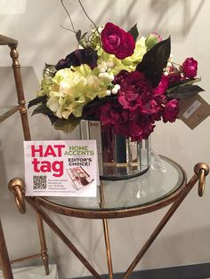 lovely silk florals in beveled mirror vases and cache pots are brightening the @Uttermost showroom this #ATLmkt #HATtag MM 12th floor
