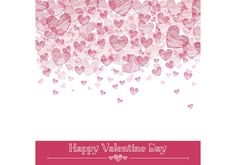 Valentine Hearts Vector Background