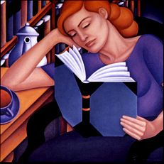 """""""The Common Reader"""" ~ Bascove (b. 1946) re-pinned by: http://sunnydaypublishing.com/books/"""