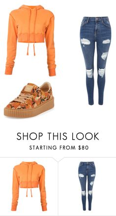 """Untitled #963"" by alanawedge59 on Polyvore featuring Greg Lauren, Topshop and Puma"
