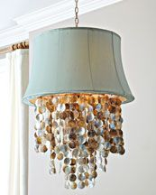 Add lamp shade to existing abalone pendant!