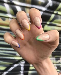 In summer, there is an opportunity to show the brightest and most unusual ideas on your nails. Summer manicures are the basis for a good mood. Correct selection of nail design can really improve mood and enhance self-confidence.Summer nails need no Cute Spring Nails, Bright Summer Nails, Spring Nail Art, Cute Nails, Nails Summer Colors, Nail Summer, Pretty Nails, Acrylic Nails, Gel Nails