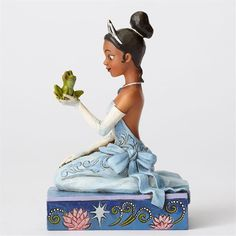 "Jim Shore Disney ""Resilient and Romantic"" Tiana with Frog Figure"