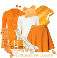 """Creamsicle Colors"" by chrissykp on Polyvore"