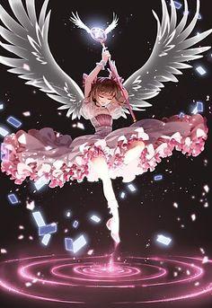 'Cardcaptor Sakura' Photographic Print by lowahart Cardcaptor Sakura, Sakura Kinomoto, Anime Angel, Anime Kawaii, Anime Love, Manga Pokémon, Sakura Card Captors, Chibi, Image Manga