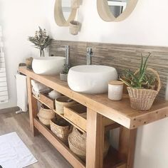 Bathroom Furniture, Bathroom Interior, Furniture Decor, Bad Inspiration, Bathroom Inspiration, Bathroom Spa, Bathroom Ideas, Open Bathroom Vanity, Natural Bathroom