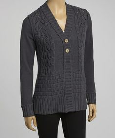 Take a look at this Dark Shadow Carina Organic Cardigan by Aventura on #zulily today!