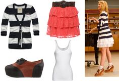 Get The Look Of. Glee's Quinn Fabray! I would do it minus the shoes though.