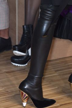 Givenchy leather top, suede foot - Over The Knee Boot
