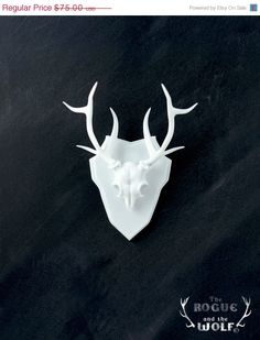 30 OFF SALE  Deer Faux Taxidermy deer skull antlers di HidenSeek, $52.50