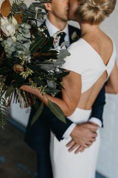 Carla Zampatti diamond-backless wedding dress