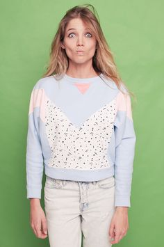 memphis milano pastel sweatshirt. 80s style. crop by WilderShores, €45.00