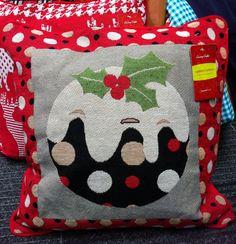 Christmas Cushion - Christmas Pudding £10