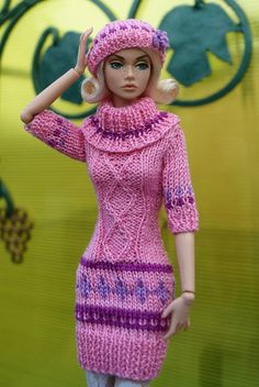 Elizaveta Chemeris Knitting Dolls Clothes, Crochet Barbie Clothes, Doll Clothes Barbie, Knitted Dolls, Barbie Dress, Doll Clothes Patterns, Crochet Dolls, Clothing Patterns, Diy Fashion