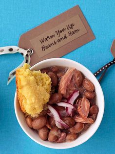 Warm-You-Up Beans and Ham soup from Midwest Living