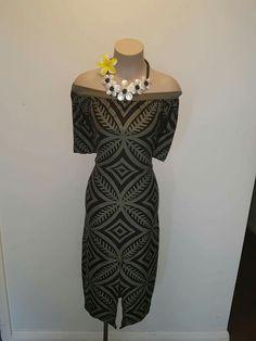 Tatau creation Samoan Designs, Polynesian Designs, Island Wear, Island Outfit, New Dress Pattern, Dress Patterns, Ball Dresses, Nice Dresses, Tapas