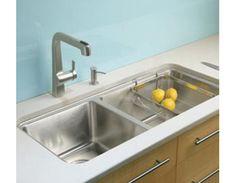 840×440×207mm Kohler Prologue™大小槽檯上台下雙用廚盆(壓紋+抗油)