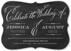 Chalked Union 5x7 Customized Wedding Invitations