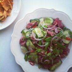 Thaise biefstuk salade
