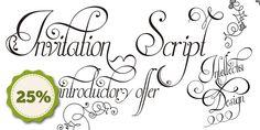 Invitation Script - Desktop font « MyFonts