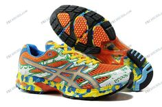 Asics Gel Noosa Tri 6 W Orange/Yellow/Blue Mens Sports Running Shoes