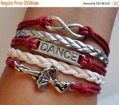 ON SALE Dance bracelet infinity Bracelet  Ballet by SummerWishes