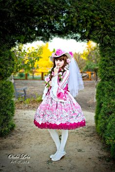 Thank you to Olala Lola Art d' Lolita for asking me to do a photoshoot in my Belle Epoque Rose coord, it was so wonderful! Japanese Streets, Japanese Street Fashion, Asian Fashion, Brolita, Knee Length Dresses, Belle Epoque, Lolita Fashion, Gothic Lolita, Victorian Fashion