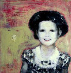 Big Love sweet nostalgic portrait  vintage  girl by MaudstarrArt, $50.00