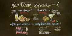 Cafe+Chalkboard+Menu | restaurant chalkboard art