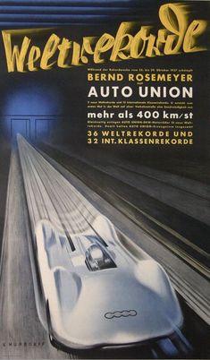 1937 Auto Union Typ C Stromlinie poster | kitchener.lord | Flickr