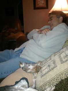 Me and dad passed out