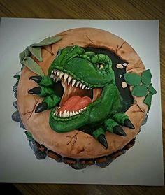 T Rex Dinosaur Cake Jurassic World birthday Pinterest Dinosaur