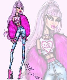 The Valentine's Day collection by Hayden Williams. Look 4: Be Mine