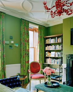 Ellen Hamilton green living room