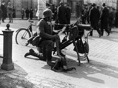 German soldier in Helsinki, Finland. Ww1 Soldiers, Wwi, Helsinki, Larp, Warfare, Orchestra, Old Photos, Civilization, Finland